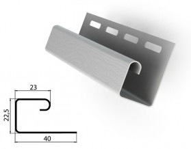 J-Профиль. Применяется в качестве завершающей планки на фронтонах, крепление софитов